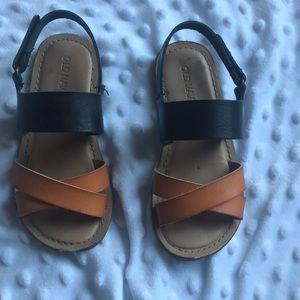 Old navy black and orange sandals